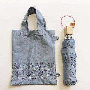 【korko】刺繍折りたたみ日傘 /ウルリクスダール城の庭園