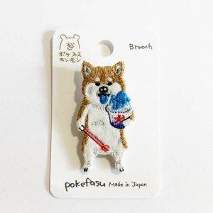 【pokefasu】コオリー犬ブローチ