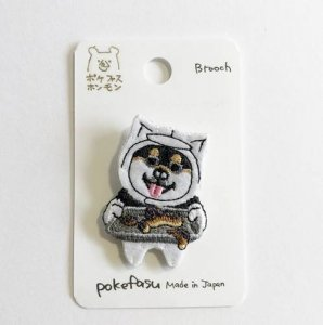 【pokefasu】チビクロワンさんブローチ