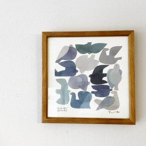【BIRDS' WORDS】POSTER/BLUE BIRD(20×20cm)額入り