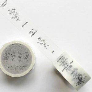 【HUTTE PAPER WORKS】BOTANICAL GARDENマスキングテープ/wild flower