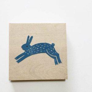 【ノラヤ】貼り絵(壁飾り)/ウサギ