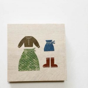 【ノラヤ】貼り絵(壁飾り)/スカート