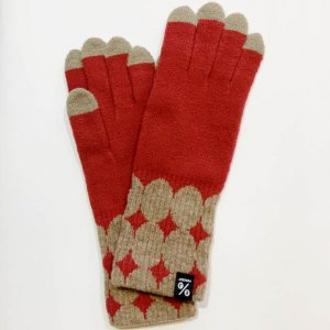【% PERCENT】GLOVE-fit DOT(Red70% Brown30%)
