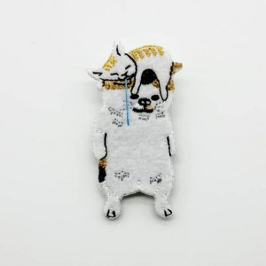 【pokefasu】ブローチ/ネコかぶり