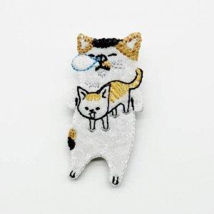 【pokefasu】ブローチ/ねむりネコ