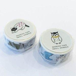 【水縞】松尾ミユキ×水縞 マスキングテープ(猫/鳥)