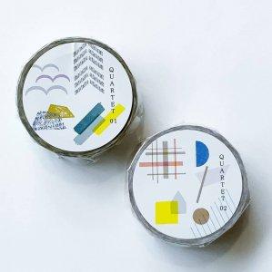 【水縞】マスキングテープ/カルテット01・02