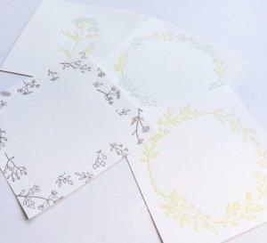 【HUTTE PAPER WORKS】活版印刷のメモパッド2