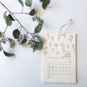 【HUTTE PAPER WORKS】2022年 レタープレスカレンダー(壁掛け)