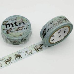 【mt ex 】世界の動物たち マスキングテープ