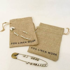 【fog linen work】セイフティピン ベルM(ブラス・シルバー)