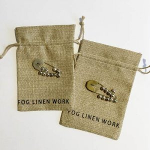 【fog linen work】セイフティピン ベルS(ブラス・シルバー)