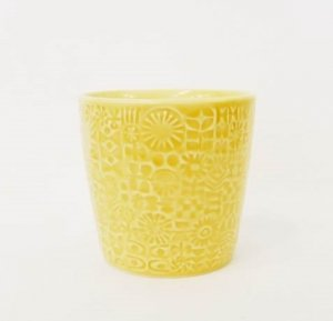 【BIRDS' WORDS】PATTERNED CUP(yellow)
