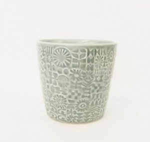 【BIRDS' WORDS】PATTERNED CUP(squall gray)
