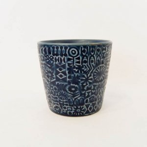【BIRDS' WORDS】PATTERNED CUP(cobalt blue)