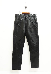 NASNGWAM(ナスングワム) HIDE ZIP LEATHER PANTS / レザーパンツ カラー:ブラック