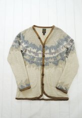 GYPSY&SONS(ジプシーアンドサンズ) WOOL TUM POURING DYED CARDY カラー:ブラウン