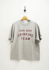 TACOMA FUJI RECORDS(タコマフジレコーズ) GOOD BEER DRINKING TEAM designed by Shuntaro Watanabe カラー:ヘザーグレー<img class='new_mark_img2' src='//img.shop-pro.jp/img/new/icons50.gif' style='border:none;display:inline;margin:0px;padding:0px;width:auto;' />