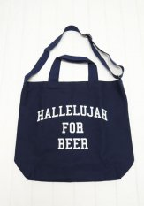TACOMA FUJI RECORDS(タコマフジレコード) HALLELUJAH FOR BEER TOTE designed by Shuntaro Watanabe<img class='new_mark_img2' src='https://img.shop-pro.jp/img/new/icons50.gif' style='border:none;display:inline;margin:0px;padding:0px;width:auto;' />