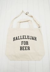 TACOMA FUJI RECORDS(タコマフジレコード) HALLELUJAH FOR BEER TOTE designed by Shuntaro Watanabe