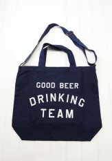TACOMA FUJI RECORDS(タコマフジレコード) GOOD BEER DRINKING TEAM TOTE designed by Shuntaro Watanabe<img class='new_mark_img2' src='//img.shop-pro.jp/img/new/icons50.gif' style='border:none;display:inline;margin:0px;padding:0px;width:auto;' />