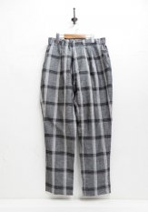 NASNGWAM(ナスングワム) GALLIANO PANTS / チェックパンツ カラー:グレー<img class='new_mark_img2' src='https://img.shop-pro.jp/img/new/icons50.gif' style='border:none;display:inline;margin:0px;padding:0px;width:auto;' />
