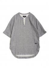 QUOLT(クオルト) TOP-GAUZE SHIRTS/プルオーバーシャツ カラー:グレイ