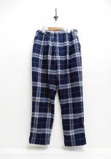 NASNGWAM(ナスングワム) GALLIANO PANTS (CHECK) / チェックパンツ カラー:ネイビー