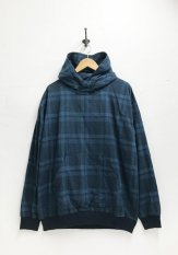 remilla(レミーラ)チェックポットフードシャツ カラー:ブルー
