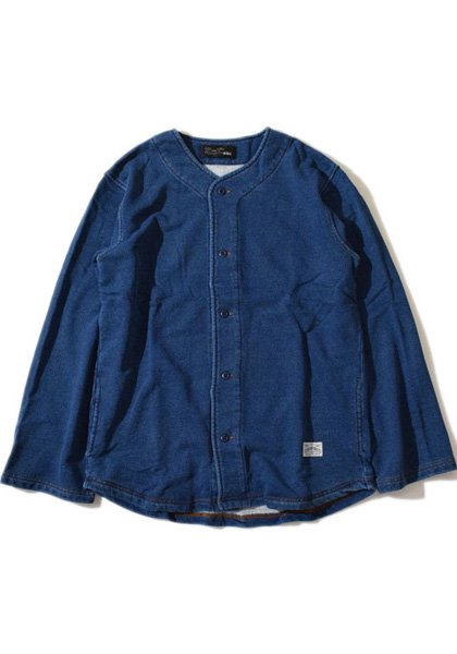 ALDIES(アールディーズ) インディゴフェザーシャツ カラー:ネイビー
