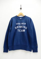 TACOMA FUJI RECORDS(タコマフジレコーズ)  GOOD BEER DRINKING TEAM SWEAT カラー:ネイビー<img class='new_mark_img2' src='https://img.shop-pro.jp/img/new/icons50.gif' style='border:none;display:inline;margin:0px;padding:0px;width:auto;' />