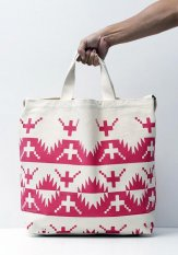 TACOMA FUJI RECORDS(タコマフジレコード) ALASKAN KING CRAB TOTE designed by Jerry UKAI カラー:ピンク