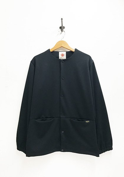NASNGWAM(ナスングワム) ASSIST JACKET JERSEY /ノーカラージャケット カラー:ブラック