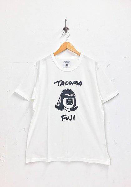 TACOMA FUJI RECORDS(タコマフジレコード) HANDWRITING LOGO designed by Tomoo Gokita カラー:ホワイト
