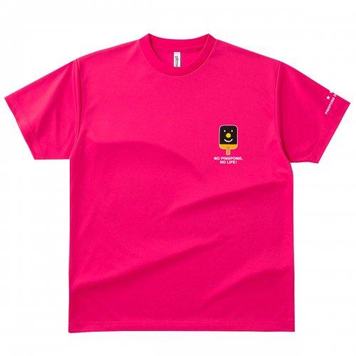 【卓球 Tシャツ】Penholderくん【ホットピンク】
