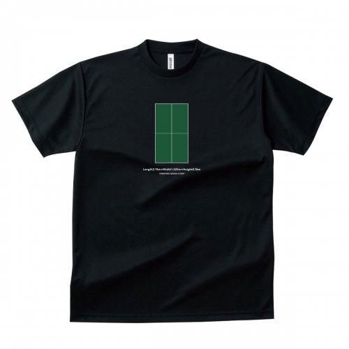 【卓球 Tシャツ】TABLENENNIS TABLE green【ブラック】