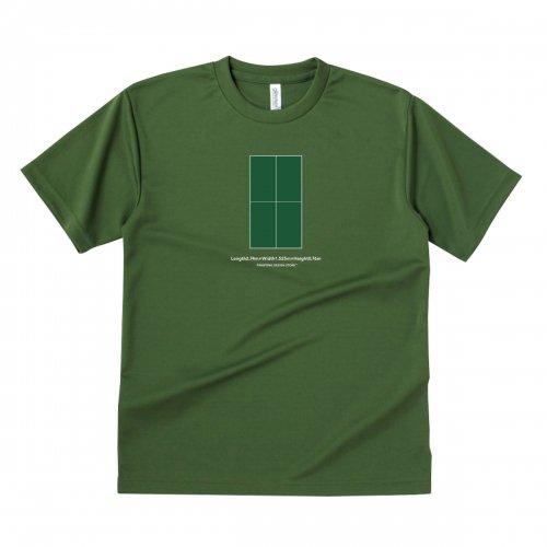 【卓球 Tシャツ】TABLENENNIS TABLE green【オリーブ】
