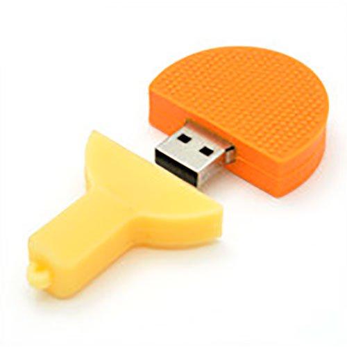 【卓球 ラケット】USBメモリー【オレンジ・16GB】