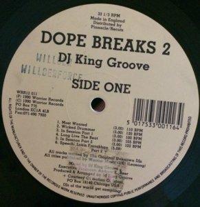 "DJ King Groove _ Dope Breaks 2 _ Warrior Records[輸入中古12"" / HIPHOP ,SCRATCH ,BREAKS]"
