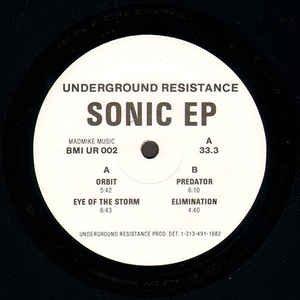 "Underground Resistance _ Sonic EP _ UR[輸入中古12"" / TECHNO MINIMAL]"