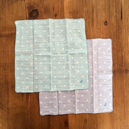 【メール便可】stample スタンプル オーガニックコットンWガーゼハンカチ2枚組_02