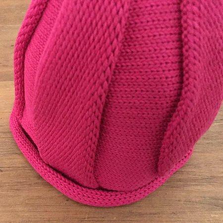 【メール便可】stample スタンプル とんがりベビーニット帽 ピンク_03