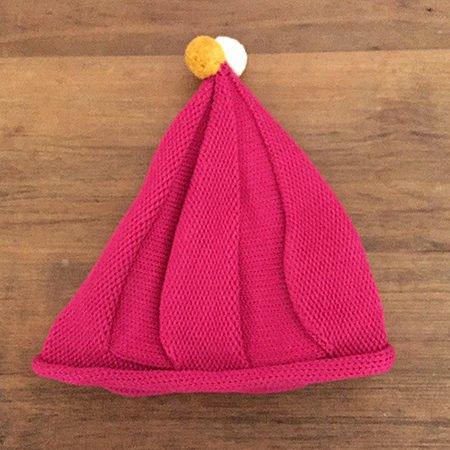 【メール便可】stample スタンプル とんがりベビーニット帽 ピンク_04