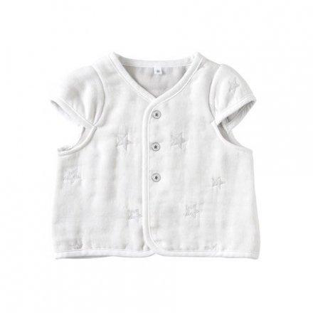【メール便可】10mois(ディモワ) ふくふくガーゼ(6重ガーゼ) ちょっき 袖付き