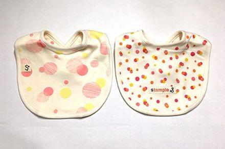 【メール便可】stample スタンプル サボンドットスタイ2枚組 ピンク