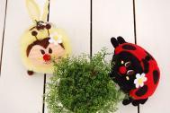 Gladee グラディー お花ミツバチ&テントウムシポーチ