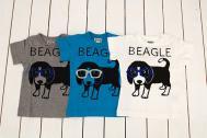 【メール便可】BLUEU AZUR ブルーアズール 【2012春夏】ビーグルプリントTシャツ