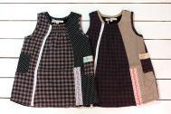 【メール便可】Little s.t. by s.t.closet s.t.クローゼット パッチワークサンドレス