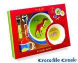 melamine gift set - dinosaurs